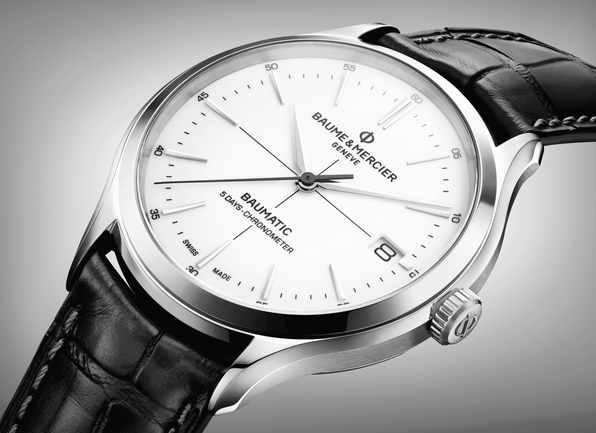 Clifton Baumatic 10436 Watch for men | Check Prices on Baume & Mercier Close-Up -