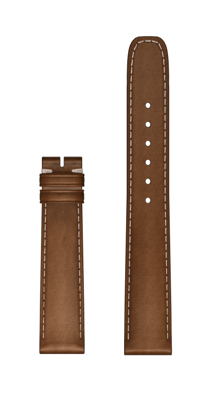 Brown Calfskin Strap watch strap 15 MM - MX0030K7 Baume & Mercier Front -