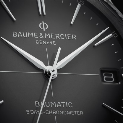 Clifton Baumatic 10550 Watch for men | Check Prices on Baume & Mercier Close-Up -