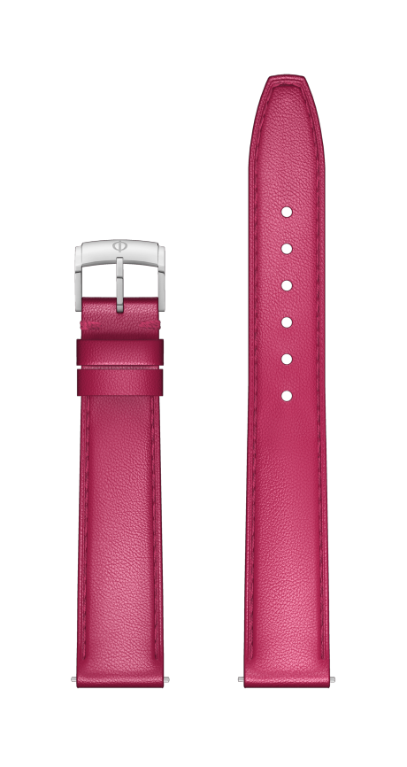 Passion Pink Calfskin Strap, Pin Buckle 15 MM - MXE0DMGD Baume & Mercier Front -
