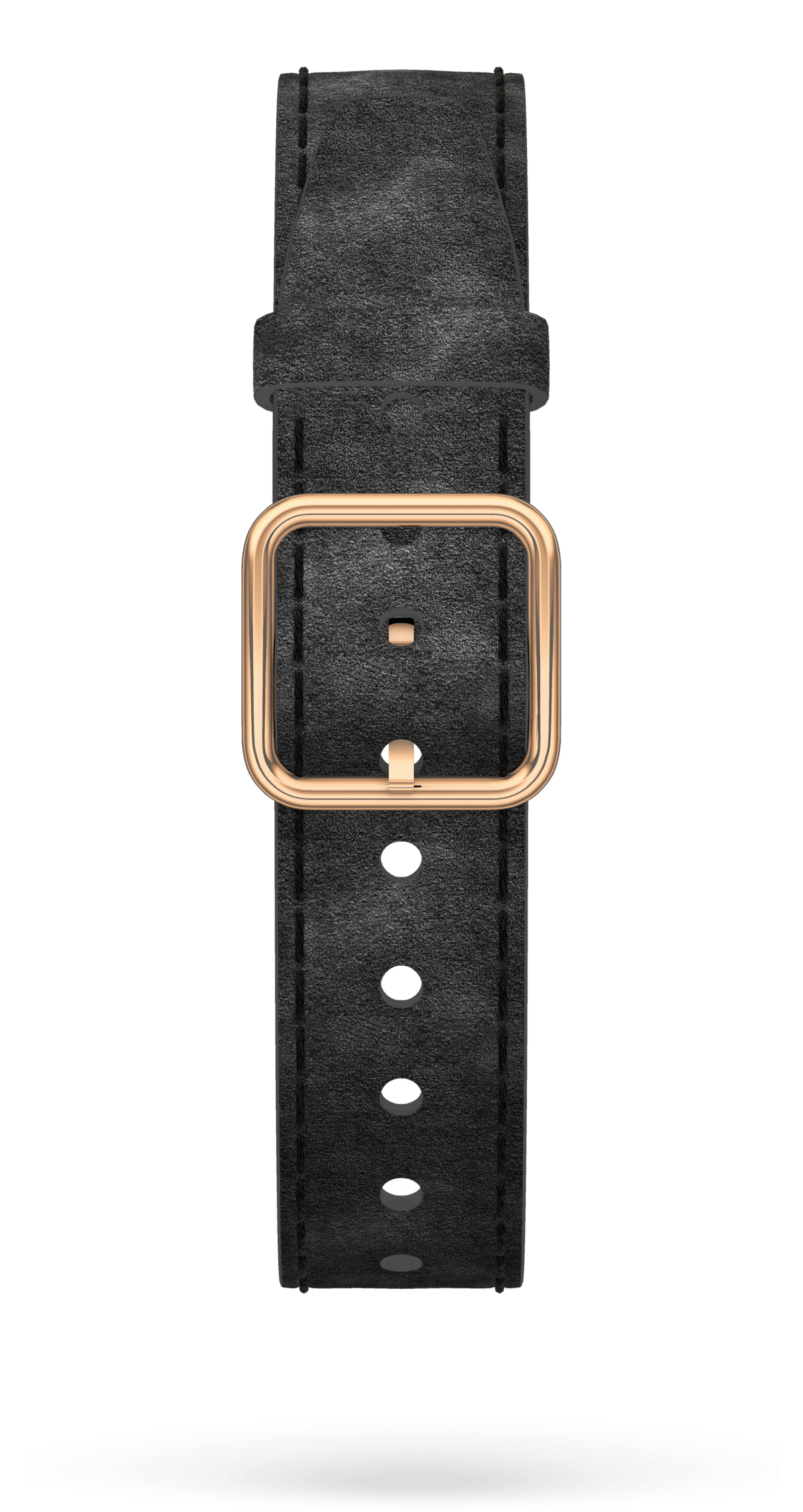 Black Alcantara Strap, PVD Steel Pin Buckle 15 MM - MXE0HP3C Baume & Mercier Front -