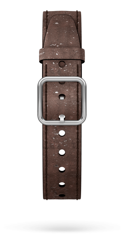 Brown Cork Strap, Steel Pin Buckle 15 MM - MXE0HP29 Baume & Mercier Front -